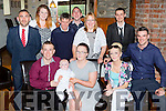 Callum O'Leary, Coolick Kilcummin who celebrated his christening with his parents Steven O'Leary and Nikki Stack, god parents Kellie Joy and Stephen Carver and family back l-r: Kevin O'Leary, Niamh Counihan, Dermot O'Leary, Gearldine O'Leary, Darren O'Leary and Ben Henry