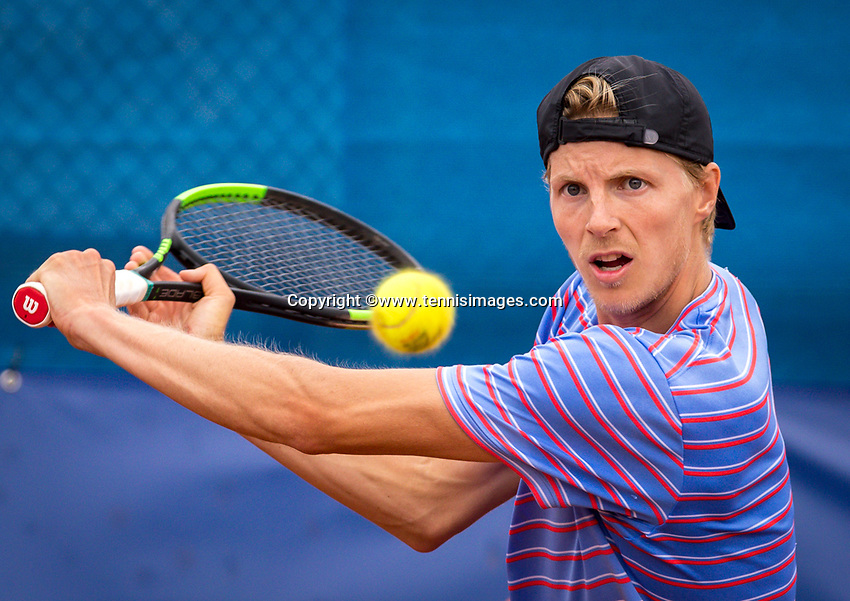 Amstelveen, Netherlands, 1 August 2020, NTC, National Tennis Center, National Tennis Championships, Men's final: Gijs Brouwer (NED)<br /> Photo: Henk Koster/tennisimages.com