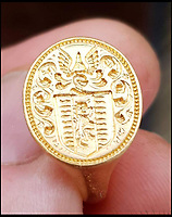 Metal detectorist finds £10,000 gold ring