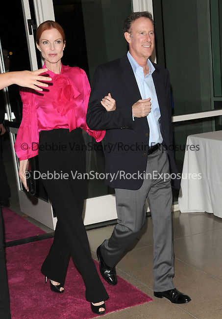 Marcia Cross & husband Tom Mahoney. at The 5th annual Pink Party celebration to Benefit Cedars-Sinai Women's Cancer Research Institute at the Samuel Oschin Comprehensive Cancer Institute, event held at La Cachette Bistro in Santa Monica, California on September 12,2009                                                                   Copyright 2009 DVS / RockinExposures