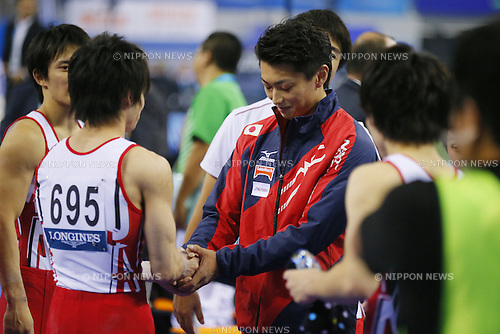 Kohei Kameyama (JPN), OCTOBER 7, 2014 - Artistic Gymnastics : 2014 World Artistic Gymnastics Championships <br /> Men's Team Final at the Guangxi Gymnasium in Nanning, China. (Photo by Yusuke Nakanishi/AFLO SPORT)