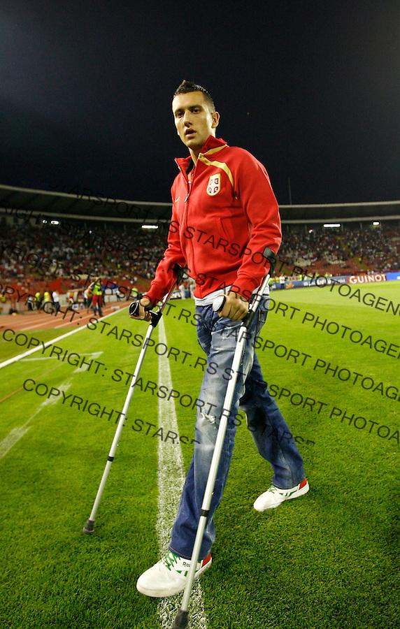 Serbia's player Bosko Jankovic, before their World Cup 2010 qualifying soccer match between Serbia and France, at Belgrade, Serbia, September 9, 2009..Starsportphoto/Srdjan Stevanovic©