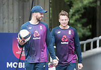 James Vince (England) left with Jos Buttler (England) during a Training Session at Edgbaston Stadium on 10th July 2019