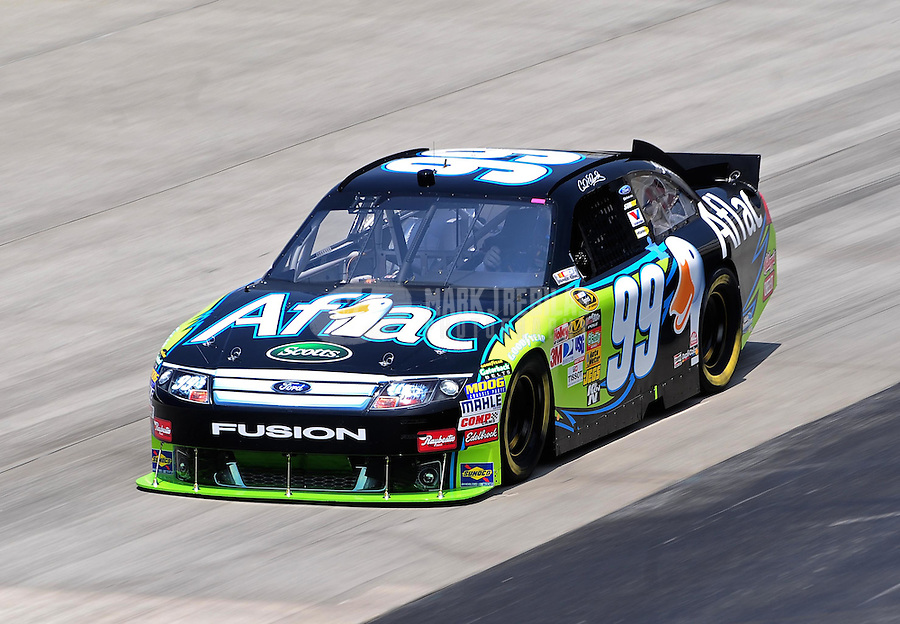 May 14, 2010; Dover, DE, USA; NASCAR Sprint Cup Series driver Carl Edwards during practice for the Autism Speaks 400 at Dover International Speedway. Mandatory Credit: Mark J. Rebilas-