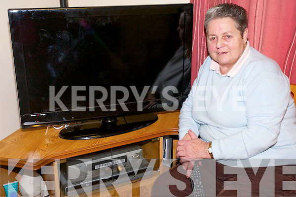 Dolly O'Reilly from Bonane who has been left without TV following the RTE switchover last Wednesday.
