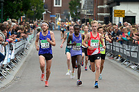 APPINGEDAM - Atletiek,  Stadsloop Appingedam , 24-06-2017, winnaar bij de vrouwen Fancy Chemutai bij de doorkomen na 5 kilometer
