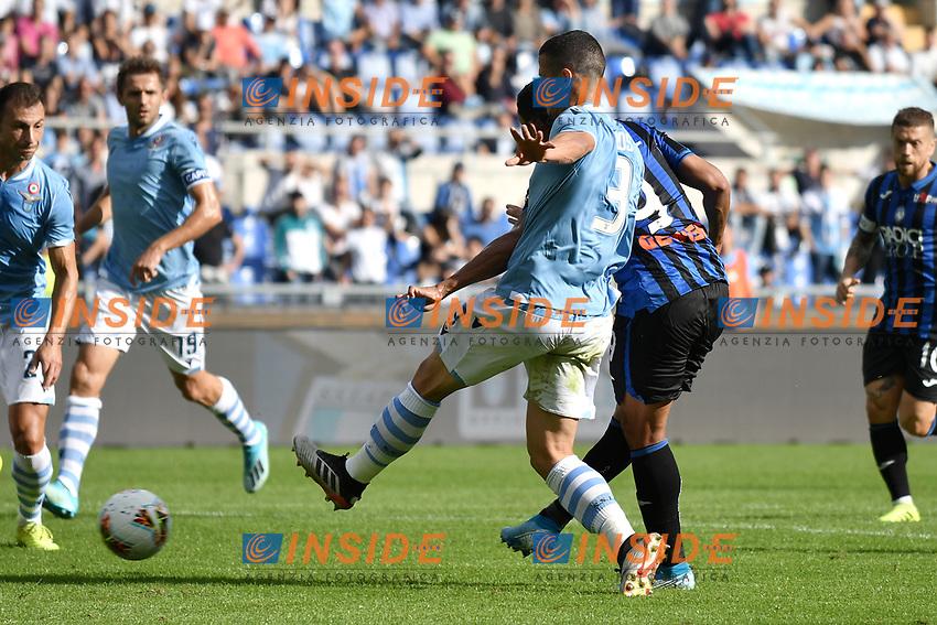 Luis Muriel of Atalanta BC scores the goal of 0-1 for his side <br /> Roma 19-10-2019 Stadio Olimpico <br /> Football Serie A 2019/2020 <br /> SS Lazio - Atalanta<br /> Foto Andrea Staccioli / Insidefoto
