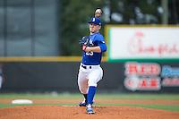 Burlington Royals starting pitcher Nolan Watson (23) in action against the Danville Braves at Burlington Athletic Park on July 12, 2015 in Burlington, North Carolina.  The Royals defeated the Braves 9-3. (Brian Westerholt/Four Seam Images)