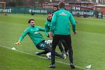 17.01.2020, Trainingsgelaende am wohninvest WESERSTADION,, Bremen, GER, 1.FBL, Werder Bremen Training ,<br /> <br /> <br />  im Bild<br /> <br /> Stefanos Kapino (Werder Bremen #27)<br /> Marco Friedl (Werder Bremen #32)<br /> <br /> <br /> Foto © nordphoto / Kokenge
