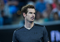 ANDY MURRAY (GBR)<br /> <br /> TENNIS - GRAND SLAM ITF / ATP  / WTA - Australian Open -  Melbourne Park - Melbourne - Victoria - Australia  - 23 January 2016<br /> <br /> &copy; AMN IMAGES