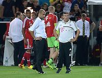 FUSSBALL   1. BUNDESLIGA   SAISON 2013/2014   SUPERCUP Borussia Dortmund - FC Bayern Muenchen           27.07.2013 Enttaeuschung FC Bayern; Trainer Pep Guardiola (li) und Co-Trainer Domenec Torrent