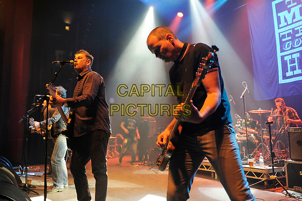 LONDON, ENGLAND - APRIL 15: Stefan Cush and Ricky McGuire of 'The Men They Couldn't Hang' performing at Shepherd's Bush Empire on April 15, 2017 in London, England.<br /> CAP/MAR<br /> &copy;MAR/Capital Pictures