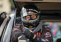 Sep 15, 2018; Mohnton, PA, USA; NHRA top fuel driver Scott Palmer during qualifying for the Dodge Nationals at Maple Grove Raceway. Mandatory Credit: Mark J. Rebilas-USA TODAY Sports