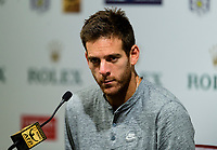 JUAN MARTIN DEL POTRO (ARG)<br /> <br /> TENNIS - SHANGHAI ROLEX MASTERS - QI ZHONG TENNIS CENTER - MINHANG DISTRICT - SHANGHAI - CHINA - ATP 1000 - 2017 <br /> <br /> <br /> <br /> &copy; TENNIS PHOTO NETWORK