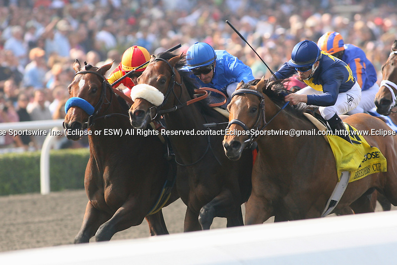 7 November 2009: Vale of York and jockey Ahmed Ajtebi (light blue cap) win the Breeders Cup Sprint at Santa Anita Race Track in Arcadia, CA..