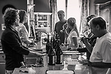 USA, Oregon, Willamette Valley, guests experience a wine tasting at the Domaine Serene Winery, Dayton