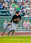 12 July 2015: West Virginia Black Bears infielder Mitchell Tolman, a 5th round draft pick for the Pittsburgh Pirates organization, in action against the Vermont Lake Monsters at Centennial Field in Burlington, Vermont. The Lake Monsters rallied to defeat the Black Bears 5-4 in NY Penn League action. Mandatory Credit: Ed Wolfstein Photo *** RAW Image File Available ****