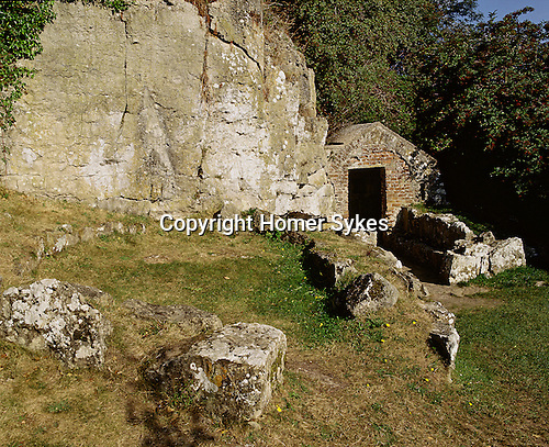 St Saint Seiriols Well and Hut Circle. Penmon Priory Anglesey Wales. Celtic Britain published by Orion
