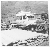 RGS Goose #7 with no freight/tourist body in dismantiling configuration at Rico.<br /> RGS  Rico, CO  Taken by Welch, Ronald - 9/5/1953