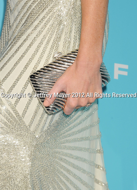HOLLYWOOD, CA - OCTOBER 23: Kelly Reilly (handbag detail) at the 'Flight' - Los Angeles Premiere at ArcLight Cinemas on October 23, 2012 in Hollywood, California.