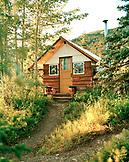 USA, Alaska, Camp Denali cabin in Denali National Park