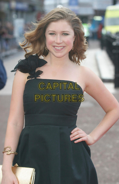 "HAYLEY WESTENRA .Attending the ""Iron Man"" UK Film Premiere at the Odeon, Leicester Square, London, England, .24th April 2008..half length black dress strapless bow shoulder hand on hip.CAP/DS.©Dudley Smith/Capital Pictures"