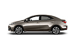 Car Driver side profile view of a 2017 Toyota Corolla Lounge 4 Door Sedan Side View