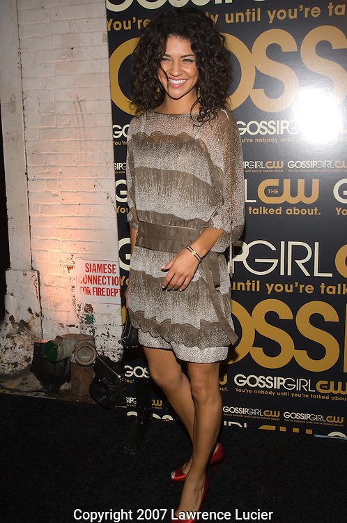 "Actor Jessica Szohr arrives at the party for the premiere of the CW Network's ""Gossip Girl"" September 18, 2007, at Tenjune in New York City.. (Pictured : JESSICA SZOHR)."