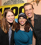 Allison Case, Lesli Margherita and Bryce Ryness attend the cast celebration for their 1500 performance on Broadway at the Shubert Theater on November 16, 2016 in New York City.
