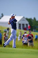 Justin Thomas (USA) watches his approach shot on 7 during the Wednesday practice day of the 117th U.S. Open, at Erin Hills, Erin, Wisconsin. 6/14/2017.<br /> Picture: Golffile | Ken Murray<br /> <br /> <br /> All photo usage must carry mandatory copyright credit (&copy; Golffile | Ken Murray)