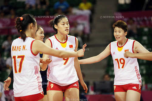 Liu Xiaotong (CHN),<br /> AUGUST 24, 2014 - Volleyball : FIVB World Grand Prix 2014 final round match between China 2-3 Russia at  Ariake Coliseum, Tokyo, Japan. (Photo by AFLO SPORT)
