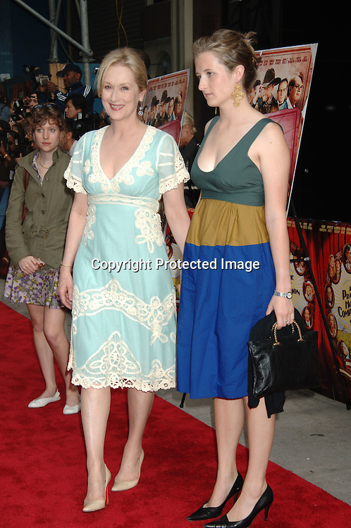 "Meryl Streep and daugher Gracie Gummer..at The New York Premiere of ""A Prairie Home Companion""..on June 4, 2006 at The DGA Theatre. ..Robin Platzer, Twin Images"