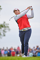 Ariya Jutanugarn (THA) watches her tee shot on 2 during the round 3 of the KPMG Women's PGA Championship, Hazeltine National, Chaska, Minnesota, USA. 6/22/2019.<br /> Picture: Golffile | Ken Murray<br /> <br /> <br /> All photo usage must carry mandatory copyright credit (© Golffile | Ken Murray)