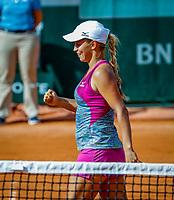 Paris, France, 27 May, 2018, Tennis, French Open, Roland Garros, Yulia Putintseva (KAZ)<br /> Photo: Henk Koster/tennisimages.com