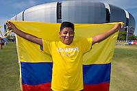 Photo before the match Ecuador vs Peru, Corresponding Group -B- America Cup Centenary 2016, at Univesity of Phoenix Stadium,<br /> <br /> Foto previo al partido Ecuador vs Peru, Correspondiante al Grupo -B-  de la Copa America Centenario USA 2016 en el Estadio de la Universidad de Phenix, en la foto: Fans<br /> <br /> <br /> 0806/2016/MEXSPORT/Osvaldo Aguilar.