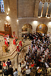 Israel, the Latin Patriarch of Jerusalem Fouad Twal at the Dormition Church on Mount Zion on Pentecost
