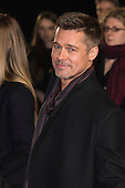 London, UK. 21 November 2016. American actor Brad Pitt attends the UK premiere of Allied, the World War II romantic thriller film, directed by Robert Zemeckis starring Brad Pitt and Marion Cotillard.