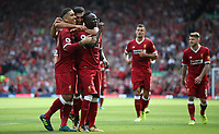 Liverpool 27-08-2017 Anfield <br /> Football - 2017 / 2018 Premier League - Liverpool vs. Arsenal Sadio Mane of Liverpool celebrates scoring the second goal at Anfield. COLORSPORT/LYNNE CAMERON/IMAGO/Insidefoto