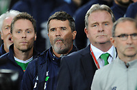 Ireland's Roy Keane during the anthems <br /> <br /> Photographer Ian Cook/CameraSport<br /> <br /> FIFA World Cup Qualifying - European Region - Group D - Wales v Republic of Ireland - Monday 9th October 2017 - Cardiff City Stadium - Cardiff<br /> <br /> World Copyright &copy; 2017 CameraSport. All rights reserved. 43 Linden Ave. Countesthorpe. Leicester. England. LE8 5PG - Tel: +44 (0) 116 277 4147 - admin@camerasport.com - www.camerasport.com
