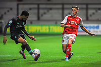 Fleetwood Town's defender Ryan Rydel (35) pass is blocked during the The Leasing.com Trophy match between Fleetwood Town and Liverpool U21 at Highbury Stadium, Fleetwood, England on 25 September 2019. Photo by Stephen Buckley / PRiME Media Images.