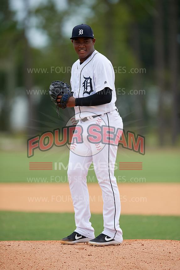 Detroit Tigers pitcher Sandel De La Cruz (68) during an Instructional League instrasquad game on September 20, 2019 at Tigertown in Lakeland, Florida.  (Mike Janes/Four Seam Images)