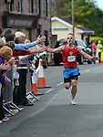 Stuart Farrell from Get Fit Solutions comes home in the Duleek 10K run. Photo:Colin Bell/pressphotos.ie