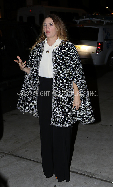 WWW.ACEPIXS.COM<br /> <br /> October 27 2015, New York City<br /> <br /> Actress Drew Barrymore arrives for a book signing at Barnes and Noble in Union Square on October 27 2015 in New York City<br /> <br /> Byline: Zelig Shaul/ACE Pictures<br />  <br /> Ace Pictures, Inc:  <br /> tel: (646) 769 0430<br /> e-mail: info@acepixs.com<br /> web: http://www.acepixs.com