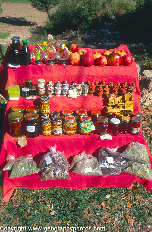 Small roadside stall selling local produce, Tlos, Turkey