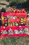 Small roadside stall selling local produce, Tlos, Turkey