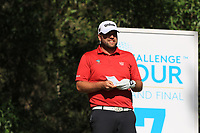 Jack Senior (ENG) on the 7th tee during Round 1 of the Challenge Tour Grand Final 2019 at Club de Golf Alcanada, Port d'Alcúdia, Mallorca, Spain on Thursday 7th November 2019.<br /> Picture:  Thos Caffrey / Golffile<br /> <br /> All photo usage must carry mandatory copyright credit (© Golffile | Thos Caffrey)