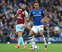 Everton's Dominic Calvert-Lewin<br /> <br /> Photographer Rachel Holborn/CameraSport<br /> <br /> The Premier League - Everton v Burnley - Sunday 1st October 2017 - Goodison Park - Liverpool<br /> <br /> World Copyright &copy; 2017 CameraSport. All rights reserved. 43 Linden Ave. Countesthorpe. Leicester. England. LE8 5PG - Tel: +44 (0) 116 277 4147 - admin@camerasport.com - www.camerasport.com