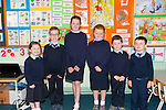 Glenflesk National School junior infants first day at school. Pictured L-R Sophie Cronin, Dylan O'Donovan, Chloe Cronin, Aisling Cronin, Ryan O'Donovan and Kai Fitzgerald.