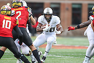 College Park, MD - October 1, 2016: Purdue Boilermakers running back David Yancey (28) in action during game between Purdue and Maryland at  Capital One Field at Maryland Stadium in College Park, MD.  (Photo by Elliott Brown/Media Images International)