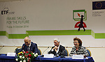 - ALBANIA - 06 October 2014 – Skills for the Future: South Eastern and Turkey –  Edi Rama, Prime Minister of Albania (L),  Gerhard Schumann-Hitzler, Director DG Enlargement D  - Regional Cooperation and Assistance, Turkish Cypriot Community and Madlen Serban (C) and Director ETF (L). PHOTO: EUP-Images - Gent SHKULLAKU / Light Studio Agency (LSA)